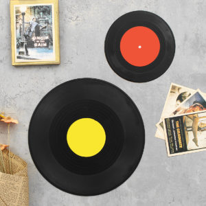 Retro klassisk vinyl fonograf Record Album Wall Hanging Home Bar Theme Decorations