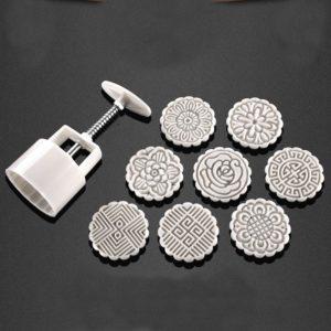 75g 8 blomma frimärken månkaka DIY mögel handtryck kex bakverk mögel bakverktyg