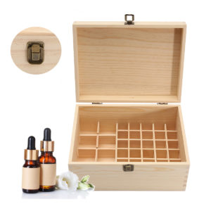 38 Grids Wooden Bottles Box  Container Organizer Storage for Essential Oil Aromatherapy