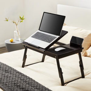 Chengshe Foldable Laptop Desk Bed Study Desk Adjustable Height from