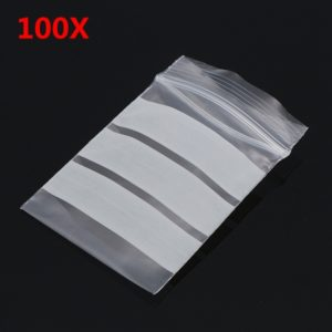 100Pcs 4x6cm Reclosable Ziplock Bag with Writing Panels PE Self Adhesive Seal Ring Bags