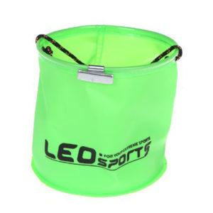 18 x 17cm EVA Foldable Garden Water Bucket with 6 meters Rope Belt Outdoor Fishing Camping