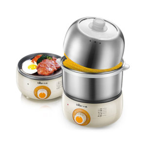 Bear ZDQ-B14J1 Multi-Function Stainless Steel Egg Boiler 360W Kitchen Electric Egg Cooker Egg Steamers From
