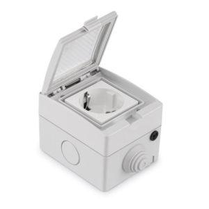 Bakeey Smart WiFi Socket IP55 Waterproof Mobile App Control Intelligent Timing Outdoor Smart Home EU Plug Socket