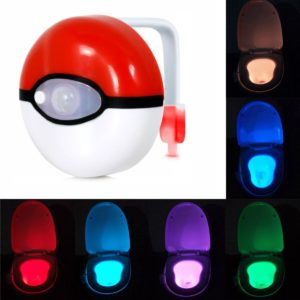 8-Colors Safe Reliable Body Motion Sensor Automatic Seat Toilet LED Night Light Lamp For Bathroom To