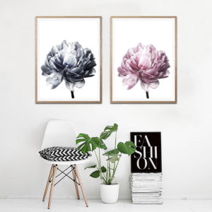 20x30/30x40cm Flower Modern Wall Art Canvas Paintings Picture Home Decor Mural Poster with Frame