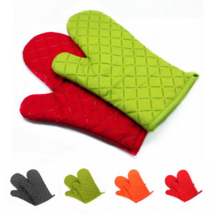 KC-PG02 1Pcs Silicone Coating Oven Mitts Microwave Oven BBQ Heat Resistant Pot Holder Gloves