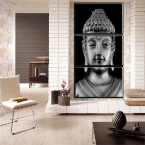 3 paneler staty meditation målning tryck på heminredning rum vägg klistermärke
