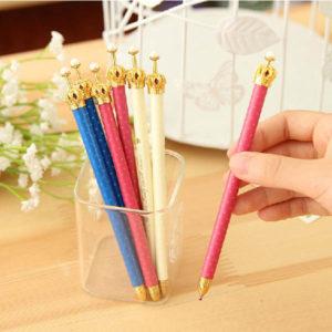 3Pcs Elegant Crown Ball Pen Personalized Stylish Ballpoint Pens