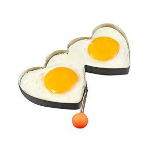 KC-ER096 Stainless Steel Heart Shape Fried Egg Mold Pan Cake Omelette Ring Kitchen Tools