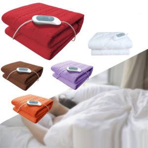 150X75 Electric Heated Throw Over Blankets Fleece Washable Warm Mattress