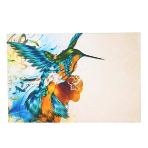 75X50cm Colorful Fly Lark With Note Wall Portrait Painting Frameless Picture Decoration Paper Art