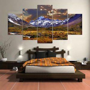 5 Cascade Plateau And Dusk Canvas Wall Painting Bild Heminredning utan ram inklusive försäkring