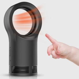 Mini bladlös värmare temperatur justerbar för hem och kontor