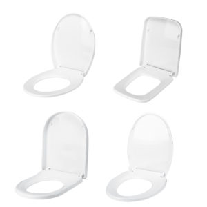 4 Type White Cover Front Toilet Seat Covers Lid Soft Open Close Easy Clean Higer Thickened Universal Descending Toilet Cover