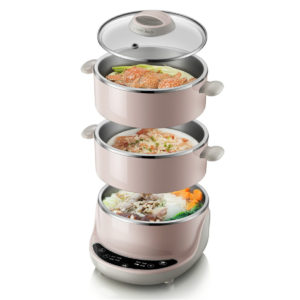 Bear DZG-D40A1 Mini Multi-layer Electric Steamer Multifunctional 304 Stainless Steel Automatic Power Off