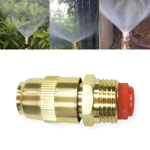 "1/2"" (DN15) 1pc Adjustable Copper Bullet Nozzle Spray Mist Cooling Roof Garden Lawn Irrigation Sprinkler"