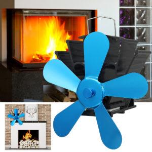 5 blad Super Quiet Heat Powered Spisfläkt som sparar väggmonterad spis Ecofan