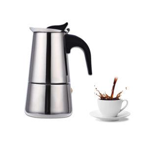 Rostfritt stål Mocha Espresso Percolator Kaffekanna Rostfritt stål Kaffekopp