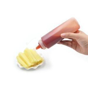 1/4/6 / 8X Clear Plastic Squeeze Sauce Ketchup Cruet Oil Bottles 8/12/16/24 oZ Smaksättningsverktyg