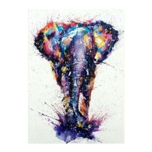 Färgglad elefant 5D diamantmålning broderi korsstygn väggdekor