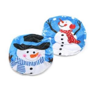 43x48cm plyschtryck svart hatt snögubbe jultoalettöverdrag hemjuldekorationer