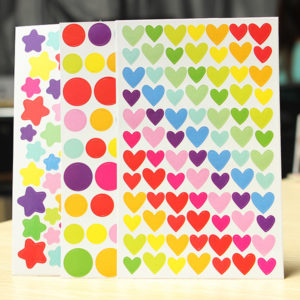 6 ark färgglada Rainbow Sticker Diary Planner Journal Albums Photo