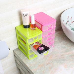 4 Styles Multi-layer Plastic Storage Box Desktop Organizer Drawer Storage Box Detachable Jewelry Makeup Cabinets Case Nail Storage Case