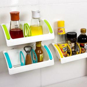 Kitchen Suction Storage Rack Holder Sink Drainer Bathroom Shelf Soap Organizer