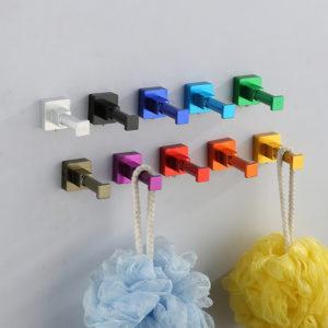 Fyrkantig färgrik hängande rymdaluminium kreativ kappkrok