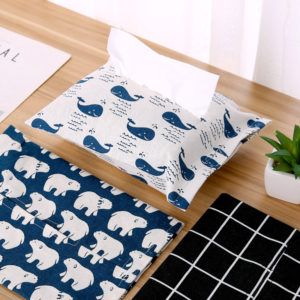 Cotton And Linen Paper Towel Set Cloth Tissue Box Bag