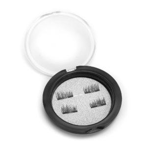 4 st/par dubbla magnetiska 3D falska ögonfransar långa naturliga ögonfransförlängningar