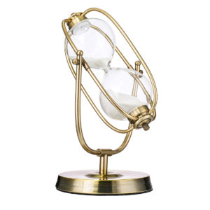 60Min Hourglass Timer Bronze Rotation Sand glass Countdown Home Office Decorations