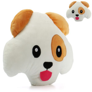"""12 """"Söt Puffy Dog Soft Pillow Emoticon Leksaker Roliga fyllda kudddockor"""