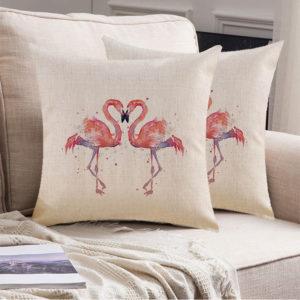 45x45cm Home Fashion Flamingo Cotton Linen örngott Home Decorative örngott