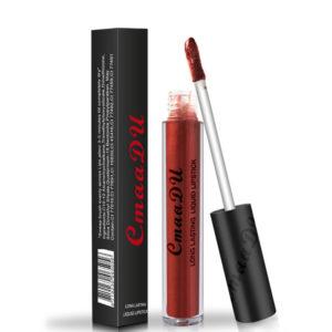 Cmaadu Metal Matte Lip Gloss Makeup Lipstick Sexy Sequin Waterproof Long Lasting Blue Cosmetic
