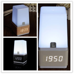 Bedside LED Light Alarm Clock Sound Control Countdown Table Lamp Easy Dimming Responsive Alarm Clock
