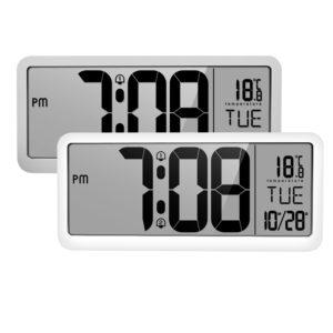 LED musik väckarklocka Väggbord Digitala digitala klockor med stor LCD -skärm för hemmakontor