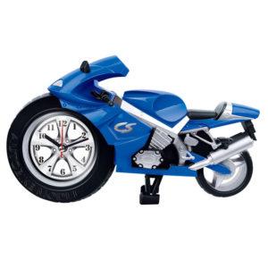 Creative Lazy Student Kids Cartoon Portable Clock Personality Bedroom Mini Clock Motorcycle A