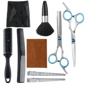 10PCS Barber Hair Cutting Thinning Scissors Shears Set Salon Hair Trimmer Pro Hairdressing Tool