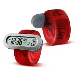HC-103 Miljövänlig batteridriven vattendriven klocka med larmtermometer Väderstation
