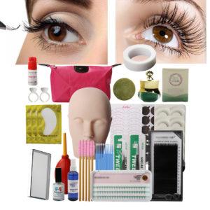 21Pcs  Eyelash Extension Set Beauty Salon Practice Set Eyelash Extension Tool