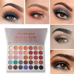 35 Colors Eye Shadow Palette Matte Shimmer Makeup Long-Lasting