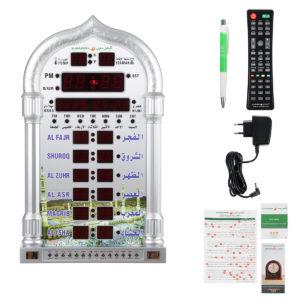 100-240V Islamic Azan Wall Clock Alarm Calendar Muslem Prayer Ramadan Xmas Decoration