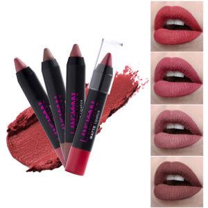 12 färger Lip Stick Pen Matte Velvet Non Stick To Cup