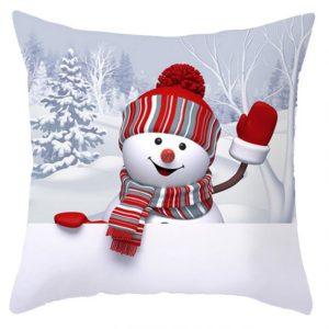 45 x 45 cm julsnögubbserie Polyester Peachskin Kuddfodral Hem Kuddfodral Jul för Heminredning