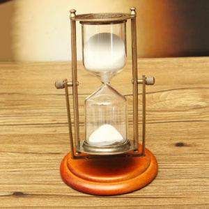 15 minuter rullande timglas Sandglass sandklocka timerbord Heminredning Dekoration på skrivbordet