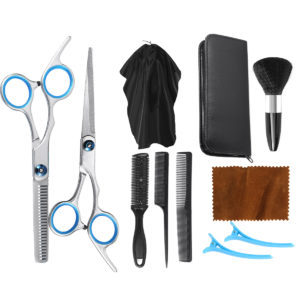 1/11PCS Professional Hairdressing Scissors Kit Hair Thinning Cutting Scissors Barber