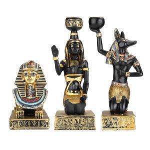 Harts egyptisk staty Ljushållare Anubis Vintage Staty Craft Home Decorations Present