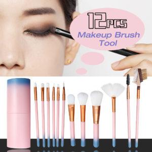 12Pcs Makeup Brushes Set Foundation Powder Eyeshadow Cosmetic Brush Tools